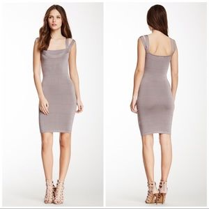 Tata Jolie Grey Bandage Mini Dress